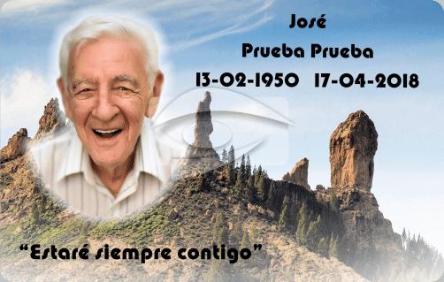 Tarjeta recordatorio Roque Nublo Gran Canaria