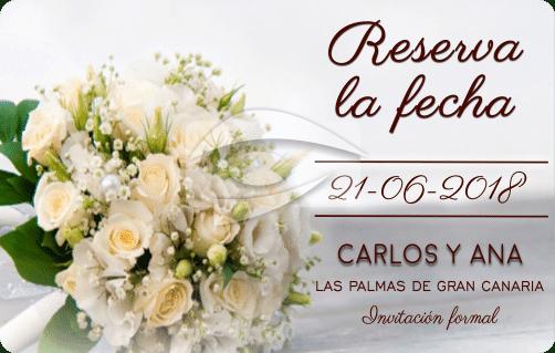 Tarjeta de reserva la fecha de bodas